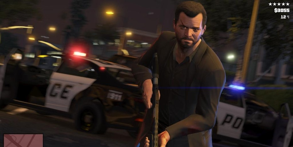 """FILE - This publicity photo released by Rockstar Games shows a screen shot from the video game, """"Grand Theft Auto V."""" (AP Photo/Rockstar Games, File)"""