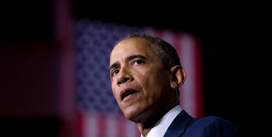 File- This Jan. 9, 2015, file photo shows President Barack Obama speaking about the France newspaper attack. President Obama wants Congress to pass legislation requiring companies to inform customers within 30 days if their data has been hacked. Obama will also propose a bill that would prevent companies from selling student data to third parties. (AP Photo/Carolyn Kaster, File)