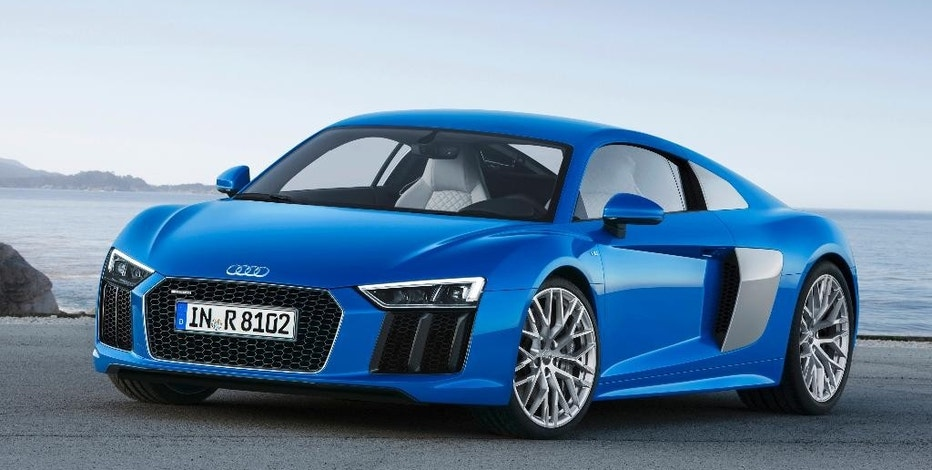 The undated photo provided by Audi Media Services shows the new Audi R8 V10. The car will have its world premiere at the Geneva International Motor Show that is open to the public from March 5 through 15. (AP Photo/Audi)