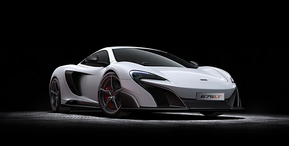 This undated photo provided by McLaren shows the new McLaren 675LT. The car will make its world debut at the  Geneva Motor Show, with a clear focus on performance, light weight and ultimate levels of driver engagement – all key attributes of a McLaren 'Longtail'. (AP Photo/McLaren Automotive Limited)