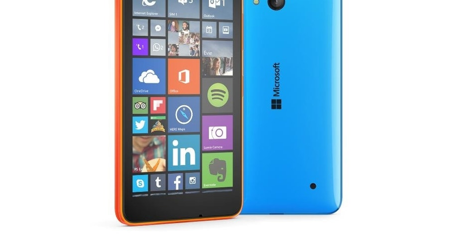 This undated product image provided by Microsoft shows the Lumia 640 smartphone. Prices for the 640 and the larger 640 XL start at 139 euros ($156) before taxes, making them more affordable as a first smartphone. U.S. prices and dates haven't been announced, though AT&T says it will have the larger 640 XL model exclusively. (AP Photo/Microsoft)