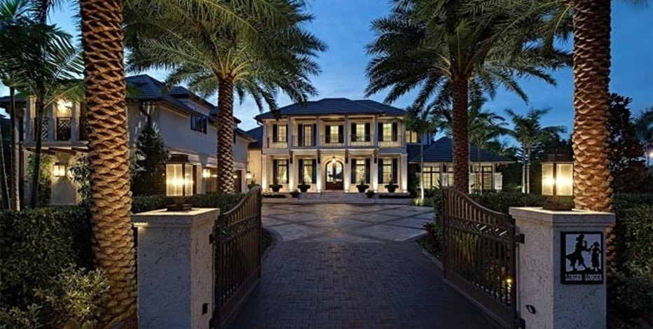 This 6-bedroom, 10-bath home at 3600 Nelsons Walk is on the market for $18.9 million in Naples, FL.