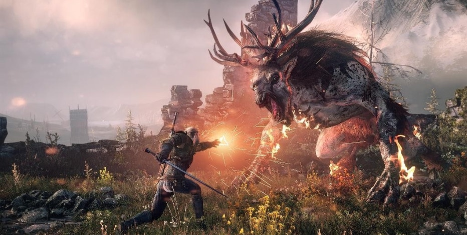 "This photo provided by CD Projekt RED shows a scene from the video game, ""The Witcher 3: Wild Hunt."" (CD Projekt RED via AP)"
