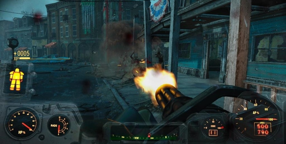 "This photo provided by Bethesda Softworks shows a screenshot of a scene for the video game, ""Fallout 4."" (Bethesda Softworks via AP)"