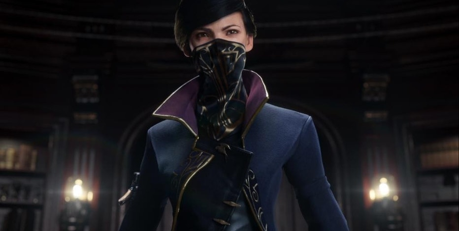 "This photo provided by Bethesda Softworks shows a screenshot of the female character, Emily Kaldwin, from the trailer for the video game, ""Dishonored 2."" (Bethesda Softworks via AP)"