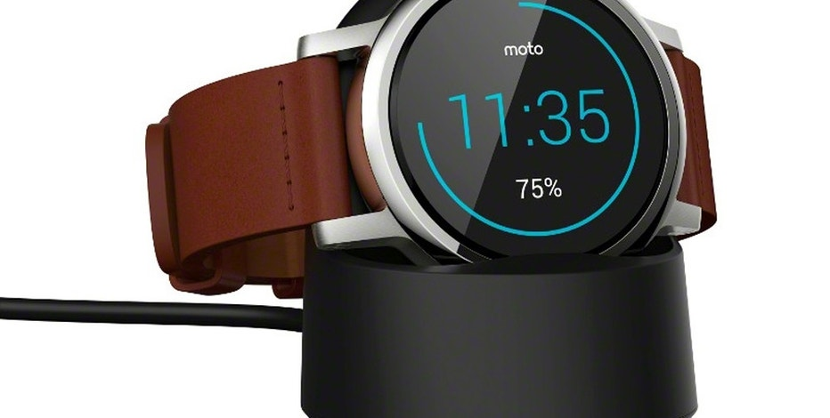 """This product image provided by Motorola shows the Moto 360 smarwatch. Motorola's latest Moto 360 watches come in three lines _ men's, women's and a premium """"Sport"""" version for fitness enthusiasts. (Motorola via AP)"""