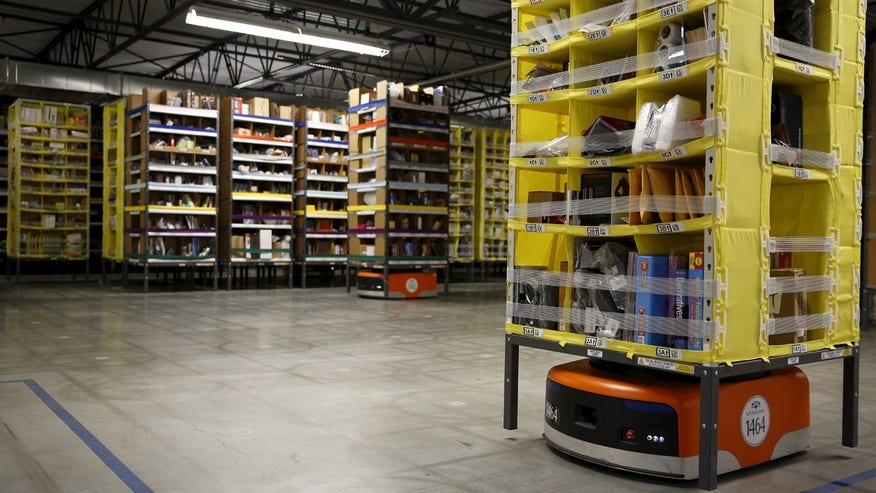 Amazon Uses Army of Robots