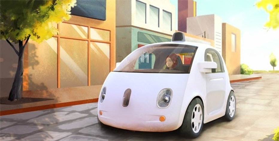 An artistic sketch of what Google's Self-Driving Car Project will look like