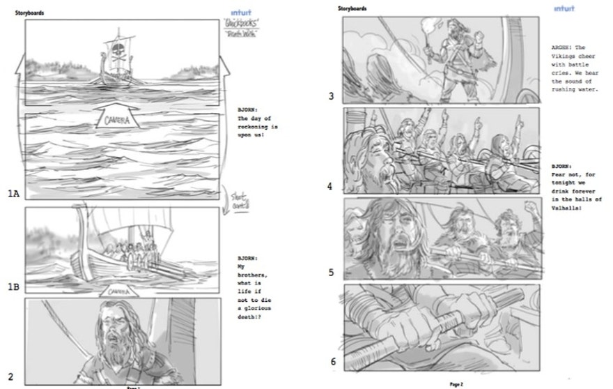 A storyboard for Death Wish Coffee's Super Bowl 50 ad.