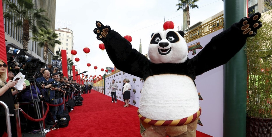 "The character of Po poses at the premiere of ""Kung Fu Panda 3"" at the TCL Chinese theatre in Hollywood, California January 16, 2016. The movie opens in the U.S. on January 29.  REUTERS/Mario Anzuoni - RTX22PEE"