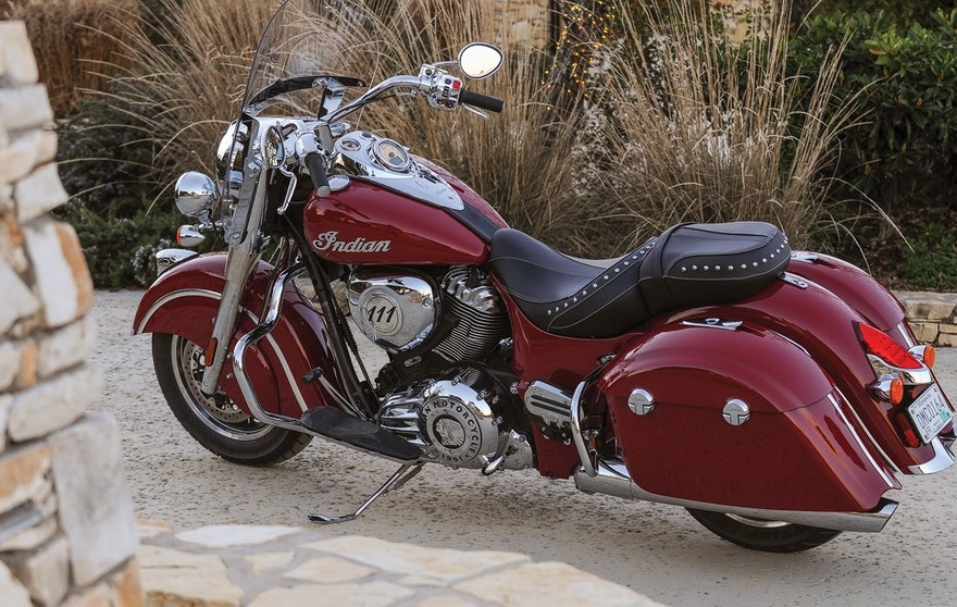 Indian Springfield motorcycle close-up FBN