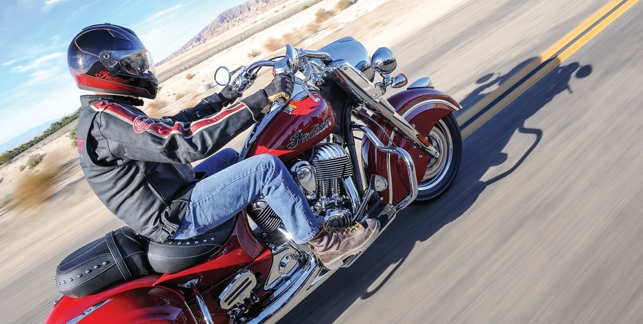 Indian Springfield motorcycle rider FBN