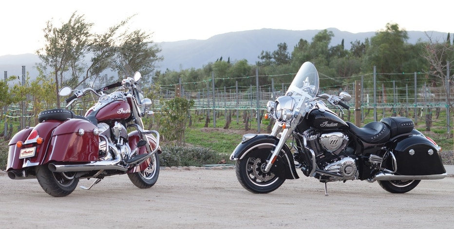 Indian Springfield black and red motorcycles FBN