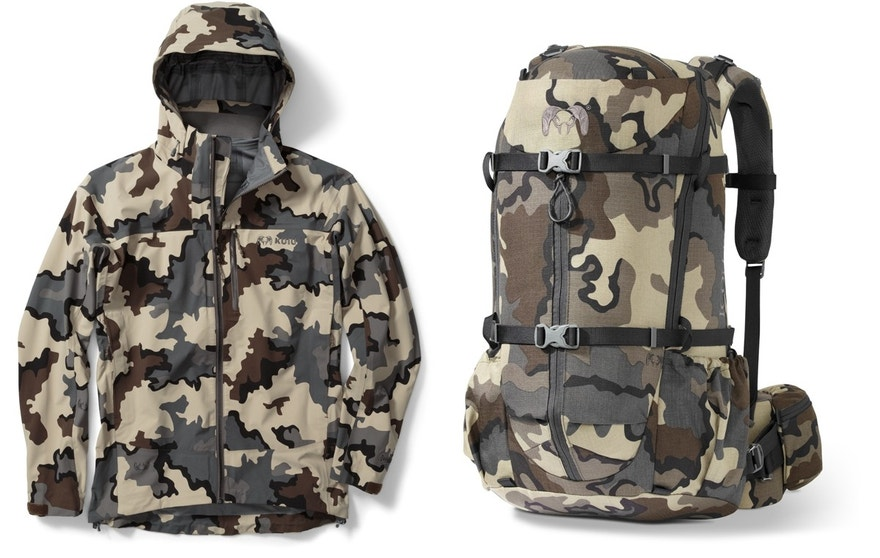 The Kuiu Chugach NX Rain Jacket and Icon Pro 1850 pack.