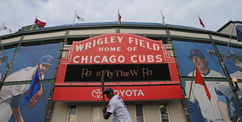 Wrigley Field exterior sign FBN
