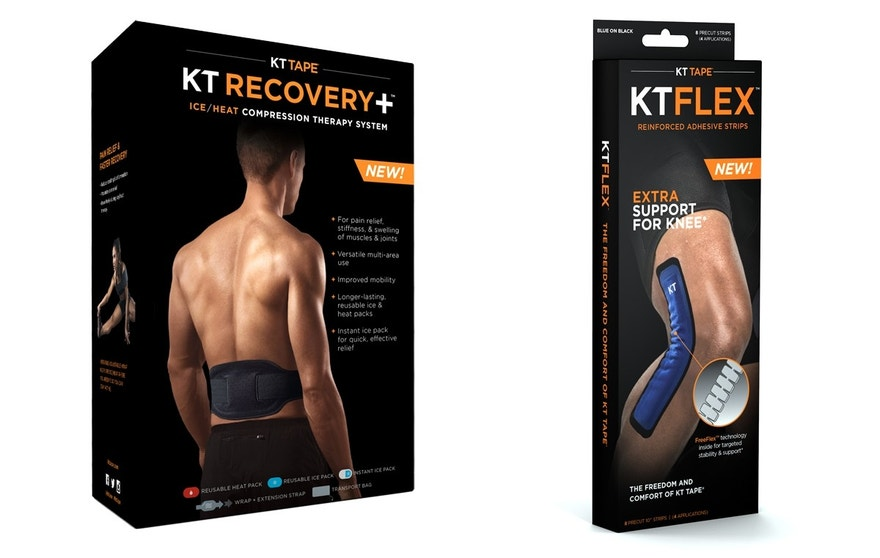 KT Recovery+ Ice/Heat and KT Flex, two new products from KT Tape.