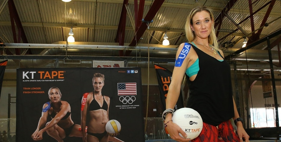 Beach volleyball star and three-time Olympic gold medalist Kerri Walsh Jennings endorses KT Tape, which has emerged as a big Olympic sponsor heading into the Rio games.