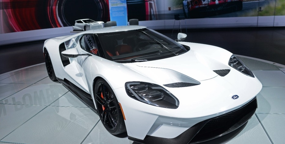 The Ford GT on display at the North American International Auto Show in Detroit, Michigan.