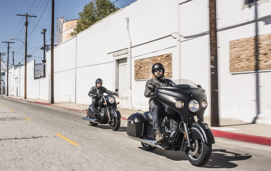 Indian Chieftain Dark Horse on road FBN