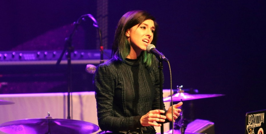"FILE - In this March 2, 2016 file photo, Christina Grimmie performs as the opener for Rachel Platten at Center Stage Theater, in Atlanta. Florida authorities say ""The Voice"" star Grimmie is in critical condition after being shot at a concert venue in Orlando by a suspect who then fatally shot himself after being tackled by the singer-songwriter's brother. Orlando Police Department officials tell WKMG-TV  that Grimmie was shot Friday night, June 10, 2016, at The Plaza Live, where she was scheduled to perform.  (Photo by Katie Darby/Invision/AP, File)"