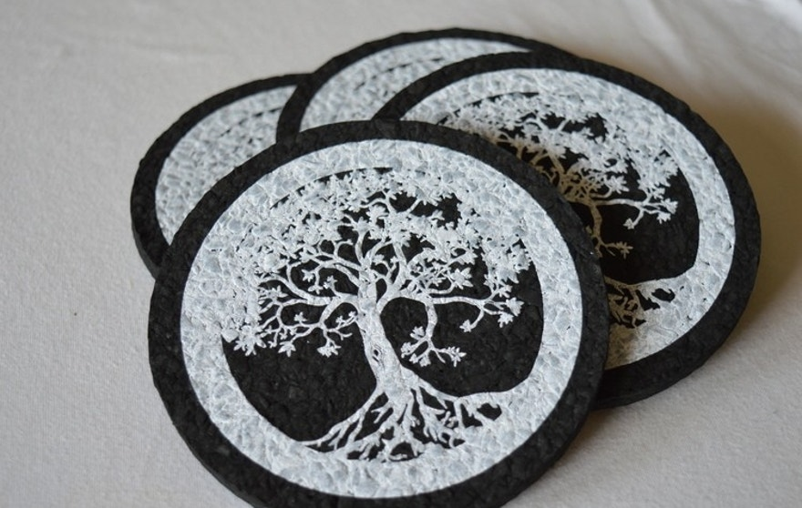 These Coasters Are Made Entirely Out Of Recycled Rubber
