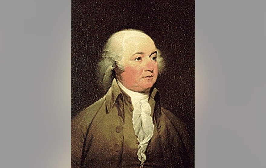 A portrait of U.S. President John Adams, who served from 1797-1801.