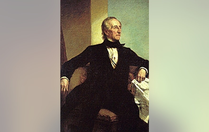 A portrait of U.S. President John Tyler, who served from 1841-1845.