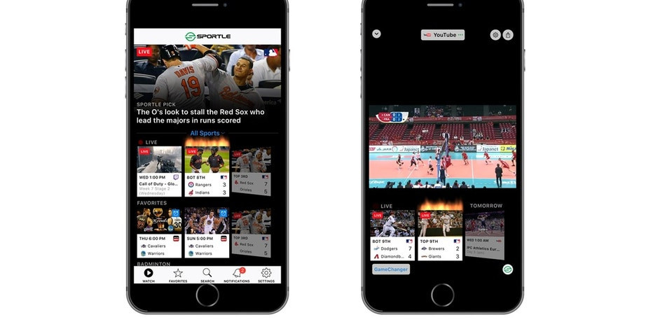 Sportle.tv, a Los Angeles startup, connects fans to live streaming sports from multiple TV networks. A new app brings Sportle to mobile devices.