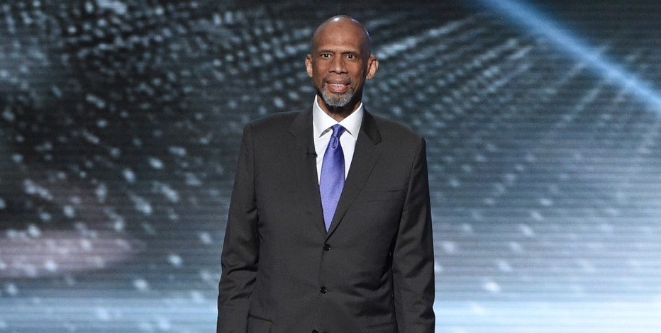 Kareem Abdul-Jabbar presents a tribute to Muhammad Ali at the ESPY Awards at the Microsoft Theater on Wednesday, July 13, 2016, in Los Angeles. (Photo by Chris Pizzello/Invision/AP)