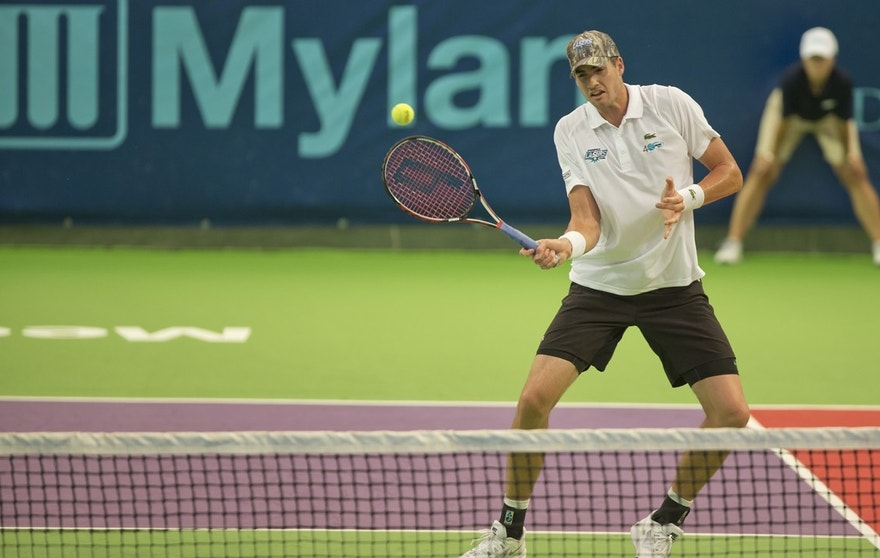 American tennis pro John Isner, ranked No. 16 in the world as of July 2016, plays for the Springfield Lasers of World TeamTennis.