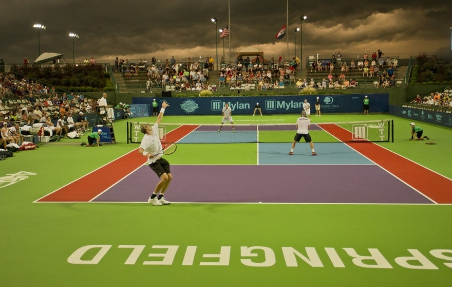 The Springfield Lasers host a WorldTeam Tennis match in 2015.