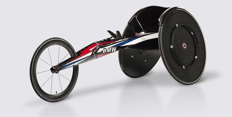 BMW designers and engineers built a new carbon-fiber racing wheelchair for Team USA Paralympic athletes.