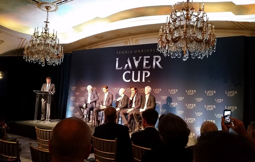 Tennis legends (l to r) Bjorn Borg, Rafael Nadal, Rod Laver, Roger Federer and John McEnroe are all on board as the Laver Cup prepares for its inaugural event in September 2017.