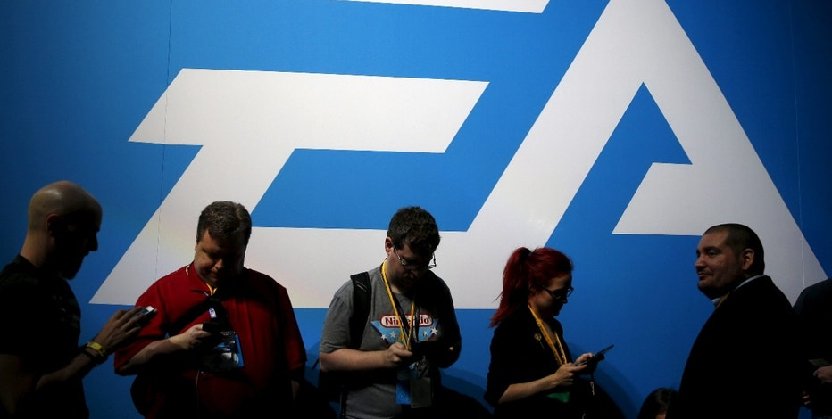 "An Electronic Arts (EA) video game logo is seen at the Electronic Entertainment Expo, or E3, in Los Angeles, California, United States, June 17, 2015.  REUTERS/Lucy Nicholson/File Photo      GLOBAL BUSINESS WEEK AHEAD PACKAGE - SEARCH ""BUSINESS WEEK AHEAD AUG 1"" FOR ALL IMAGES - RTSKHO6"
