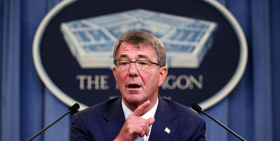 FILE - In this June 30, 2016 file photo, Defense Secretary Ash Carter speaks during a news conference at the Pentagon. Recent hacks of election data systems in at least two states have raised fear among lawmakers and intelligence officials that a foreign government is trying to seed doubt about _ or even manipulate _ the presidential race, renewing debate over when cyberattacks cross red lines and warrant a U.S. response.  (AP Photo/Alex Brandon, File)