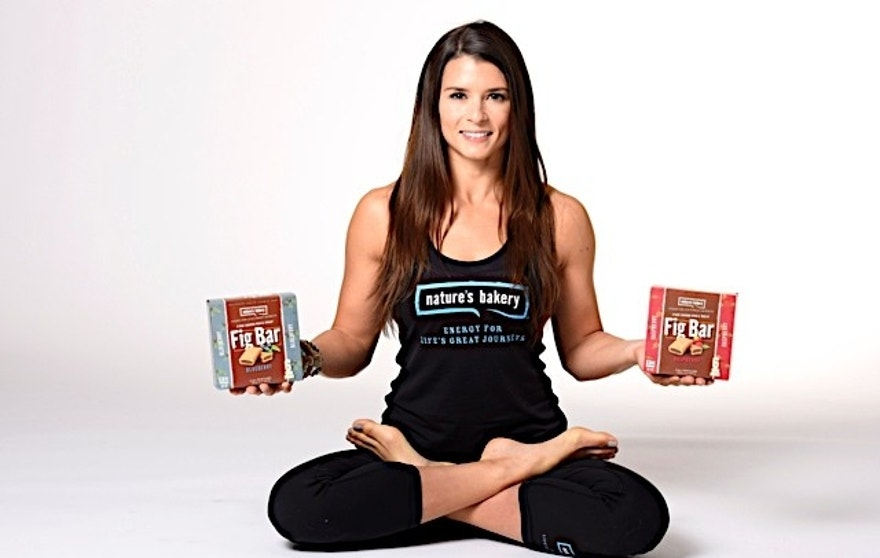 Danica Patrick Natures Bakery Yoga class with media members