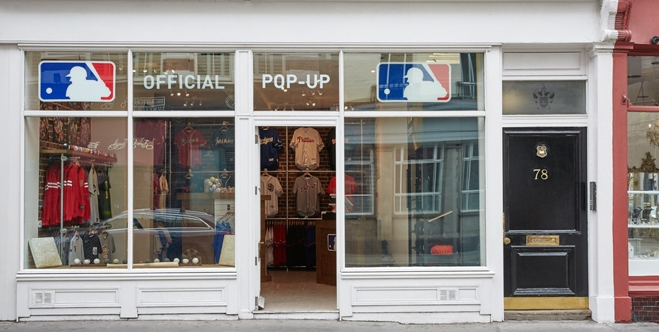 MLB has a new pop-up store in London, baseball's first standalone retail location in all of Europe. The shop will be open until the end of 2016.