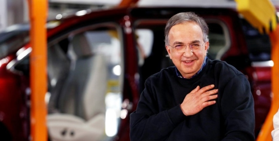 FILE PHOTO --  FCA CEO Sergio Marchionne attends the celebration of the production launch of the all-new 2017 Chrysler Pacifica minivan at the FCA Windsor Assembly plant in Windsor, Ontario, May 6, 2016. REUTERS/Rebecca Cook/File Photo