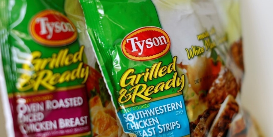 Tyson food meat products are shown in this photo illustration in Encinitas, California May 29,  2014.