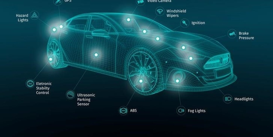 Graphic depicts the range of sensor information feeding a new set of live traffic services digital mapping company HERE is introducing ahead of the Paris Motor Show in conjunction with automakers Audi, BMW, Mercedes-Benz and other, yet-to-be-named automotive partners. September 25, 2016. HERE/Handout via Reuters