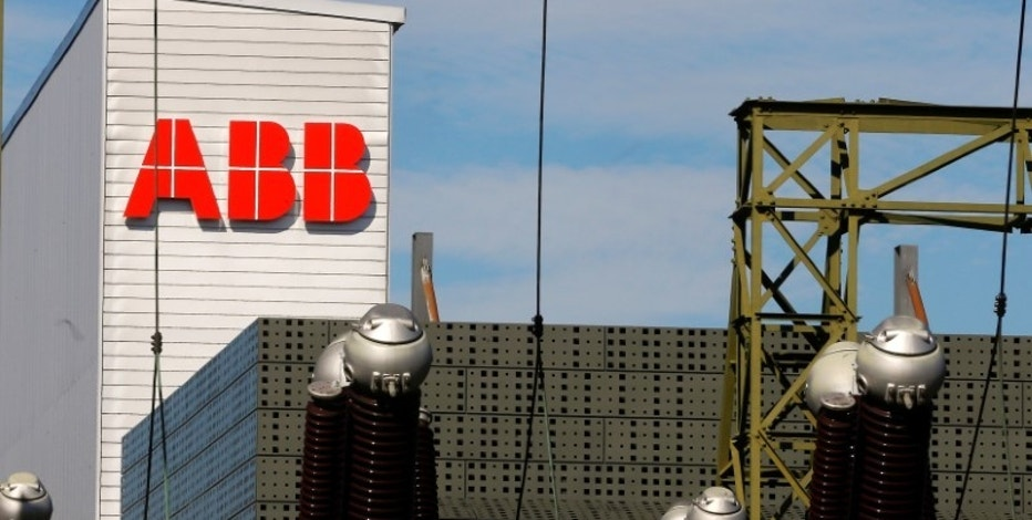 The logo of Swiss engineering group ABB is seen at a plant in Zurich, Switzerland September 29, 2016.  REUTERS/Arnd Wiegmann