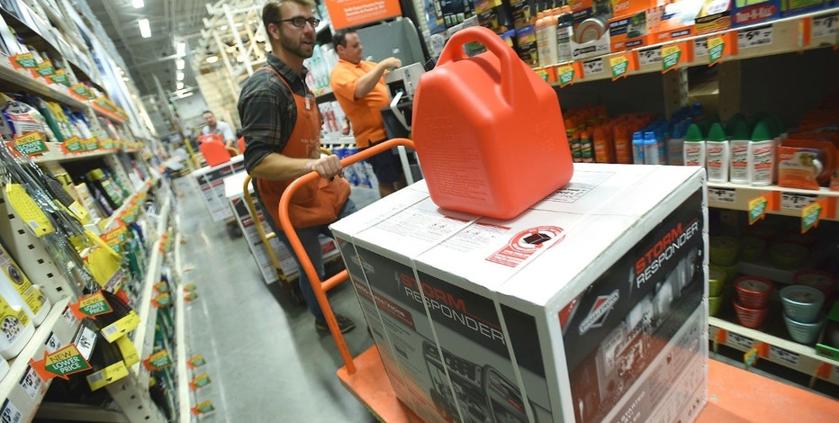 jesse canady brings out a new load of generators at the home depot in monkey junction