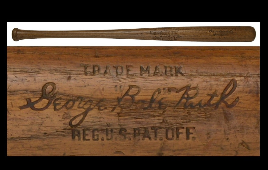 A bat used by Babe Ruth in 1924.