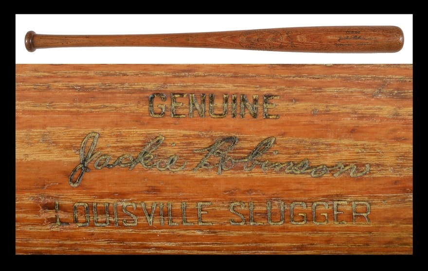 A 1953 Jackie Robinson game-used bat