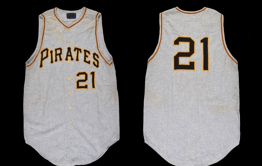 A 1967 Roberto Clemente road jersey