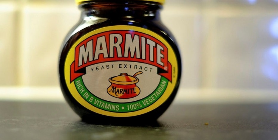 A jar of Marmite, a Unilever brand, sits on a kitchen counter in Manchester, Britain October 13, 2016. REUTERS/Phil Noble/File Photo