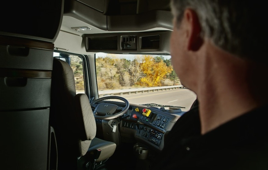 Budweiser self-driving truck interior FBN