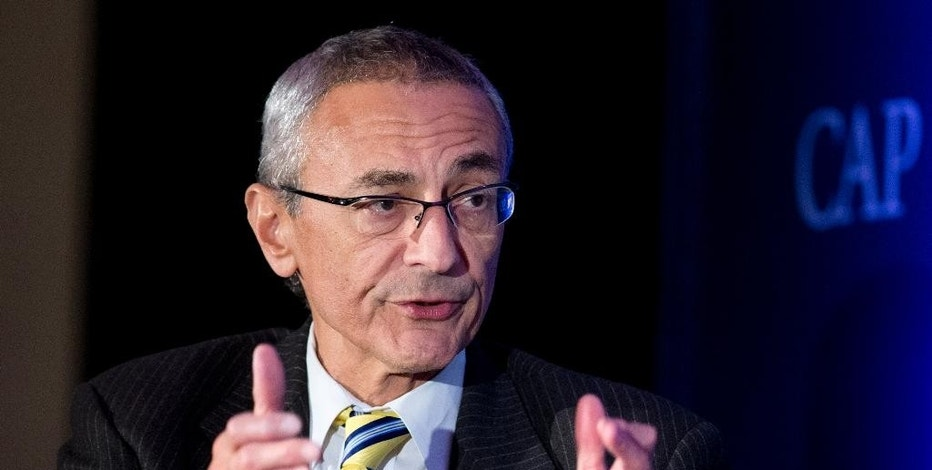 FILE - In this Nov. 19, 2014 file photo, John Podesta speaks in Washington. Poring through tranches of private, stolen emails from Hillary Clinton's campaign is fast becoming a grinding daily ritual in Washington. As of Tuesday, Oct. 25, 2016, the WikiLeaks organization has published more than 31,000 emails from the accounts of John Podesta, chairman of Clinton's presidential campaign.  (AP Photo/Manuel Balce Ceneta, File)