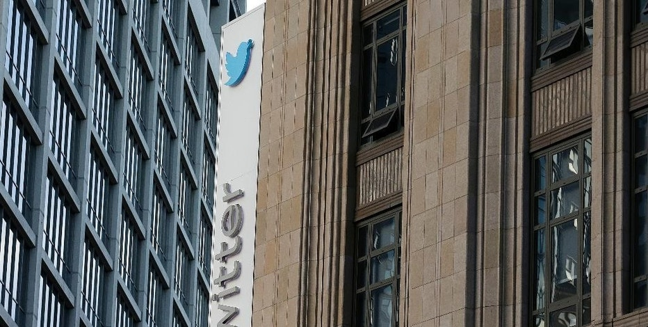 This Wednesday, Oct. 26, 2016, photo shows a sign at Twitter headquarters in San Francisco. Twitter announced Thursday it is cutting about 9 percent of its employees worldwide. The company's third quarter performance topped Wall Street's expectations. (AP Photo/Jeff Chiu)
