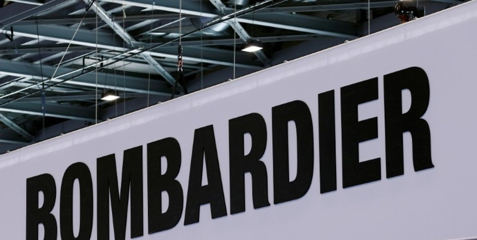A Bombardier logo is pictured on the company booth during the European Business Aviation Convention & Exhibition (EBACE) at Cointrin airport in Geneva, Switzerland, May 24, 2016. REUTERS/Denis Balibouse